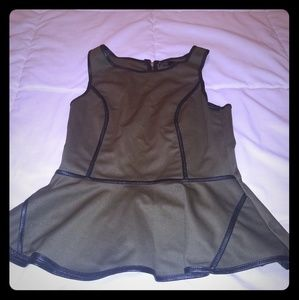 Olive green sleeveless top Small